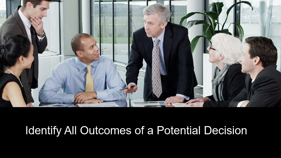 Identify All Outcomes of a Potential Decision