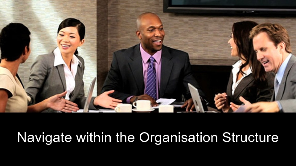 Navigate within the Organisation Structure
