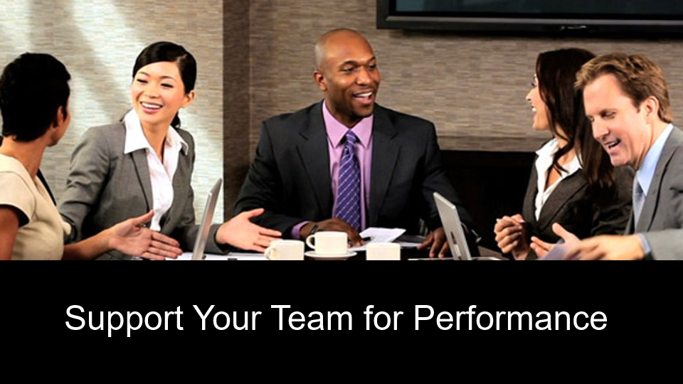 Support Your Team for Performance